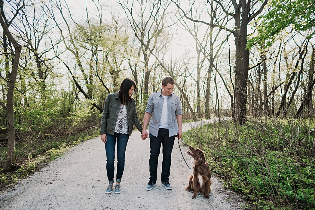 Herrick Lake Engagement Session with Dog