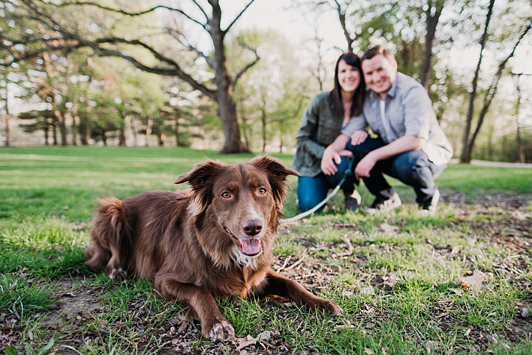 Puppy Herrick Lake Engagement Session