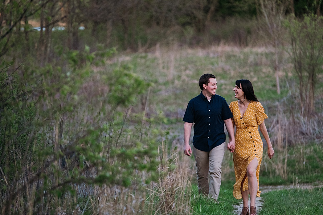 Engagement Session Blackwell Forest Preserve Couple Hiking Adventure