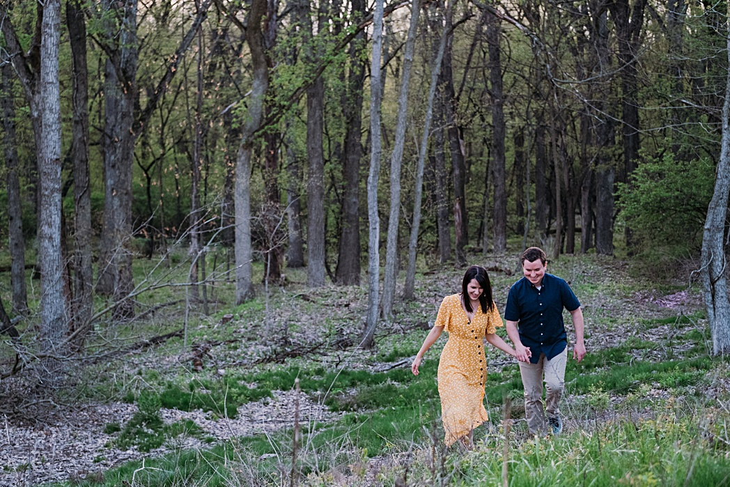 Engagement Session Blackwell Forest Preserve Adventure