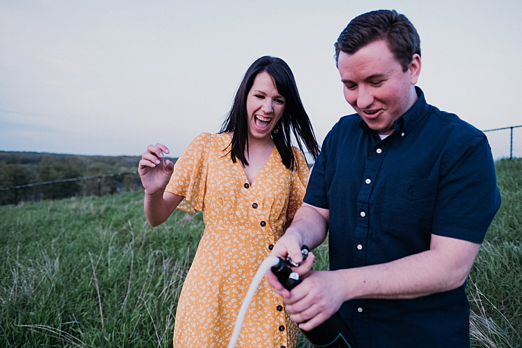 Champagne Engagement Session Blackwell Forest Preserve