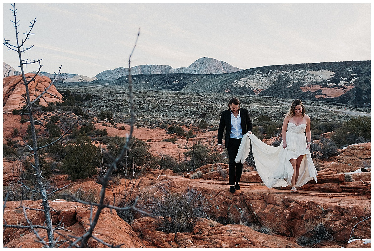 Bride and Groom in Utah