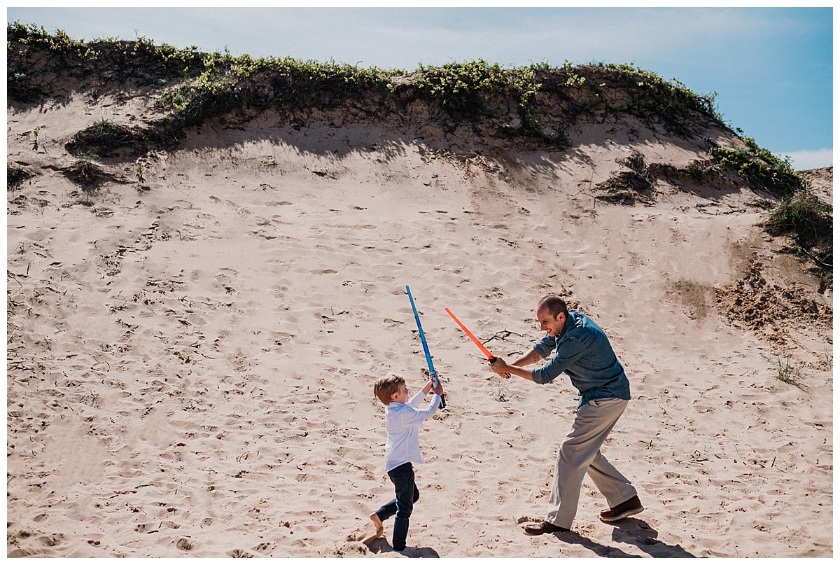 Lightsaber Dune Battle Northern Michigan