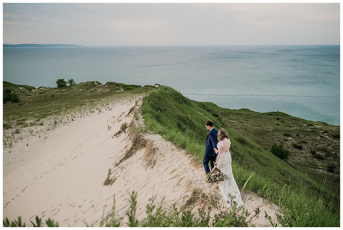Elopement Couple at the Dunes