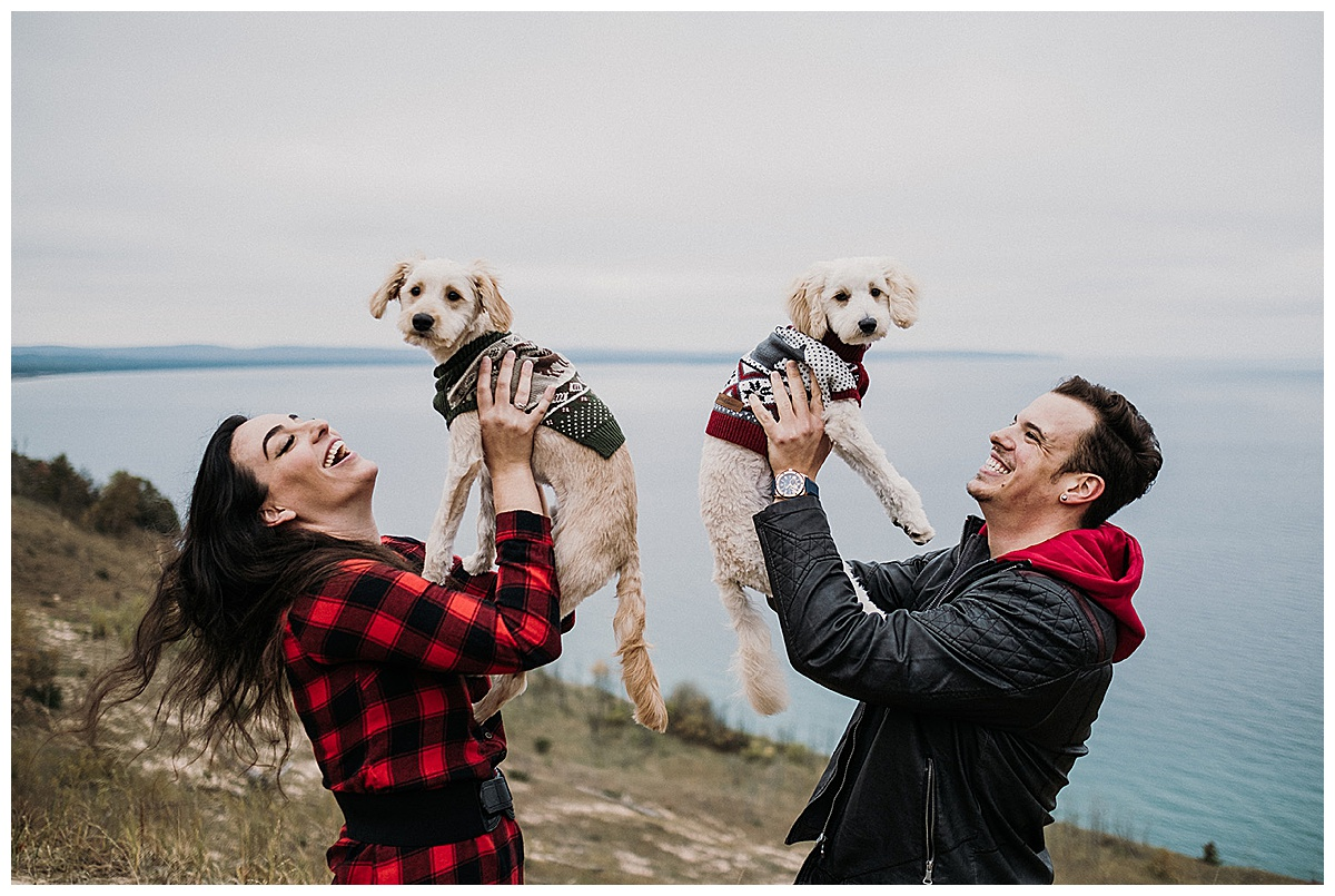 Dogs Engagement Session Dunes