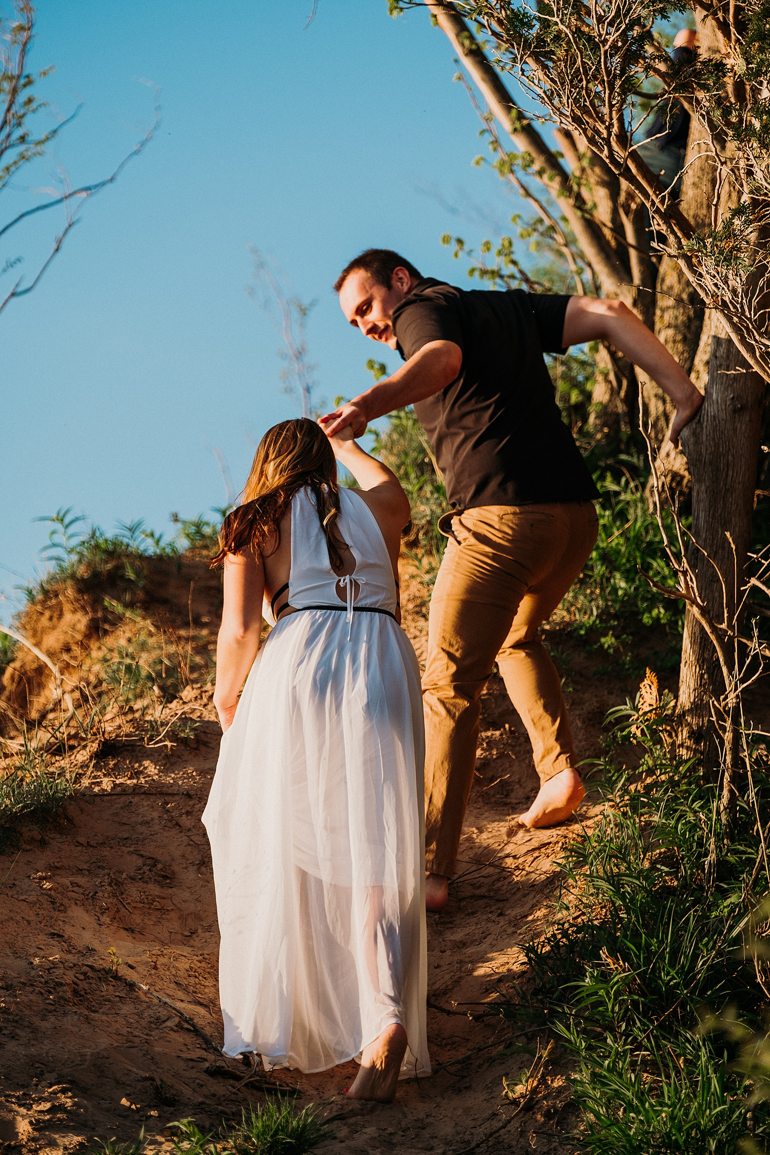 Engagement Session Empire Bluffs Michigan