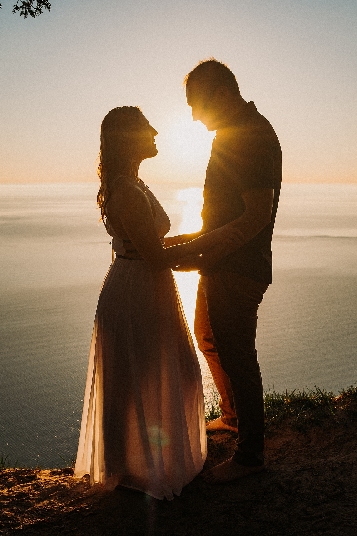 Sunset Engagement Session at the Dunes