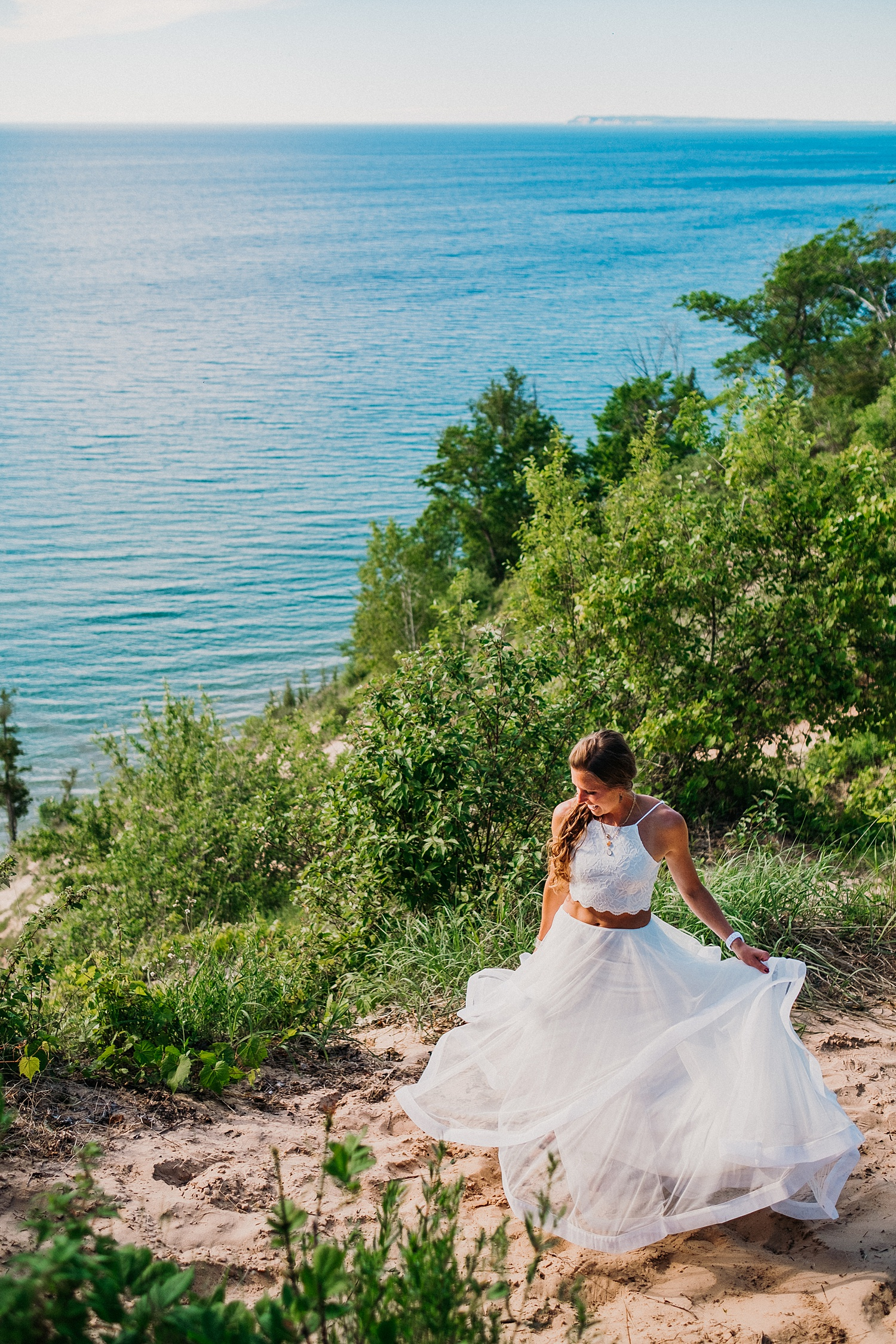 Bride Dancing on Sleeping Bear Dunes