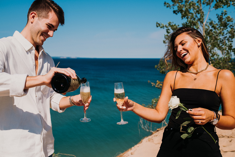 Proposal Celebration Champagne