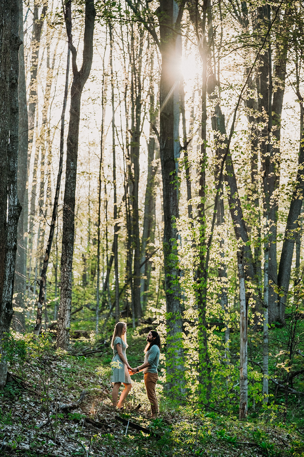 Forested Engagement Session near Traverse City
