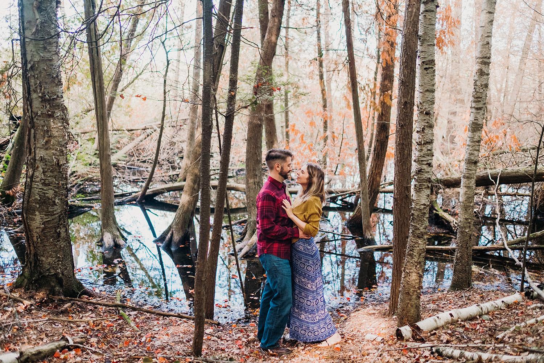 Engagement Photos at Pyatt Lake Nature Preserve