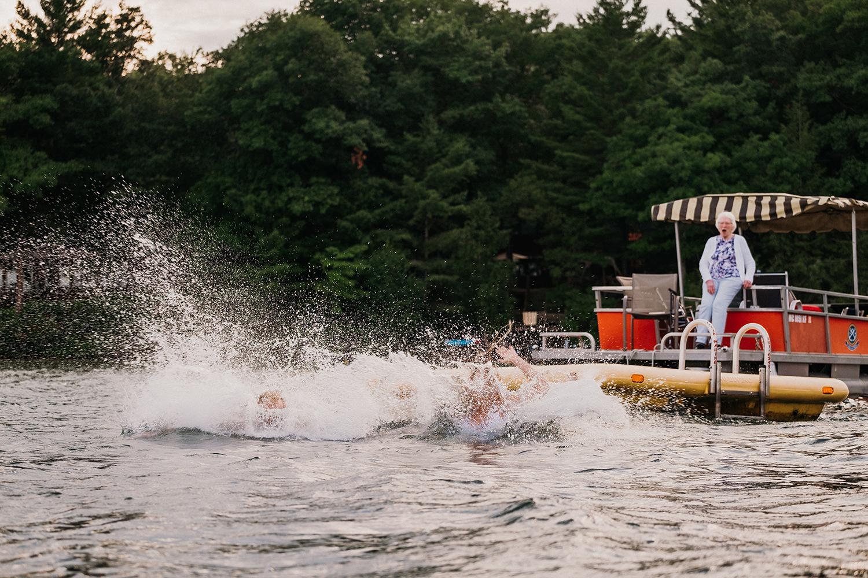 Splash Long Lake Michigan Elopement Ceremony